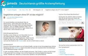 Ohren anlegen ohne OP - Dr. Schuster HNO-Arzt München